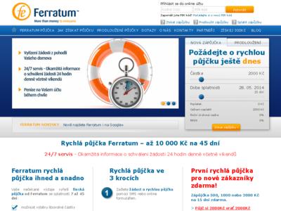 Půjčka od Ferratum